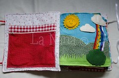 Quiet Book (4) (La Nana Handmade *Fabiola*) Tags: quiet book busy attivit children baby fabric activity sensory sensoriale preschooer asilo scuola materna