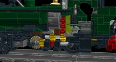 GWR 8750 tank v02-03a section view of gear train (wes_turngrate) Tags: screenshot model tank lego engine locomotive cogs gwr moc pannier powertrain 8750 mmotor