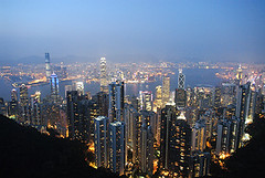 HK001 (noyestravels) Tags: china skyline hongkong victoriapeak victoriaharbor