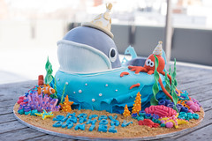 Under the Sea (Ed O_o) Tags: under sea cake fondant sculpture 3d coral reef seaweed octopus whale crab nemo starfish sand waves party birthday nikon d810 clownfish decorated outdoor people food beverage