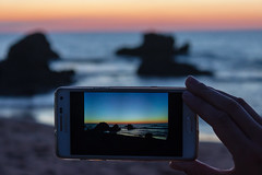 atardecer (tocacarlos) Tags: espaa sol atardecer mar foto samsung playa verano cantabria sammer liencres