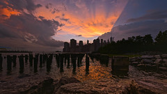 Where Angels And Skylines Meet (Anna Kwa) Tags: life light sunset sky usa newyork storm clouds reflections landscape nikon echoes earth silhouettes angels round d750 manhattanskyline always rays reach breathe meet fleurie my afszoomnikkor1424mmf28ged annakwa