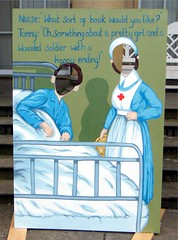 Heaton Park, Manchester, Somme Commemoration (rossendale2016) Tags: park original face hospital manchester photo bed uniform hole head some patient heston nurse unusual colourful photoboard clever commemoration