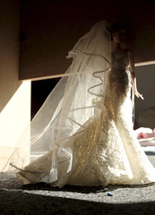 Geometrics (psiscott) Tags: wedding art mystery toy photography bride doll barbie bridal couture diorama collector