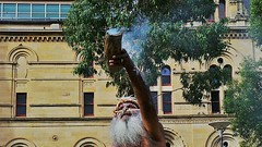 Smoke Offering West (Theen ...) Tags: city berlin home museum beard paint singing dancing herbs body percussion smoke ceremony samsung container bark elder offering adelaide welcome aboriginal remains boomerangs chanting theen flickrandroidapp:filter=none