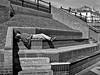 Relaxing . (wayman2011) Tags: street people bw coast bridlington eastyorkshire canon400d