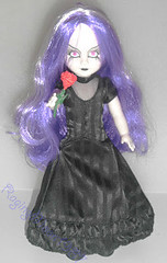 Beauty solo (RagingMoon1987) Tags: redrose blackhair pinkeyes purplehair blackdress livingdeaddoll blacklips blacklipstick whiteskin mezcotoyz gothicdoll