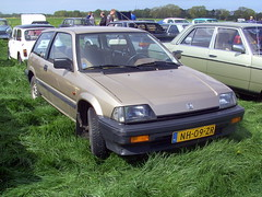 1985 Honda Civic 3D 1.3 Luxe Hondamatic Power Steering (Davydutchy) Tags: show holland classic netherlands car festival honda may civic oldtimer friesland dehaan fryslân hondamatic evenement 2013 powersteering hoornsterzwaag