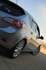 Mazda.. (Sean.Images) Tags: reflection canon lights 7d neo mazda hatchback mazda3 frontwheeldrive carreflections silvercars canon7d mazda3neo