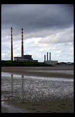 Chimneys (little_frank) Tags: ocean city ireland light sea chimney dublin cloud reflection building tower beach beautiful up rain vertical mystery skyline architecture strand skyscraper landscape evening town construction sand scenery couple solitude mood alone cityscape loneliness peace power waterfront place symbol cloudy harbour sandy tide horizon capital dream dramatic surreal tranquility bank overcast landmark icon lagoon structure rainy shore silence footsteps lonely tall lowtide doomsday drama peninsula impressive towering verticality sandymount dublinport edifice ringsend poolbegpowerstation marcofranchino poolbegthermalstation cocklelake
