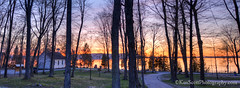 Sunset ... from Old Settlers Park (Ken Scott) Tags: trees sunset usa church silhouette spring michigan may hdr freshwater voted leelanau 45thparallel 2013 oldsettlerspark bigglenlake alligatorhill sbdnl sleepingbeardunenationallakeshore mostbeautifulplaceinamerica