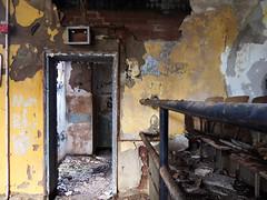 No Exit (DkdUE) Tags: door abandoned insane peeling paint theater theatre decay urbanexploration vacant asylum derelict decayed doorframe urbanexploring ue mentalhospital noexit urbex feebleminded stateschool