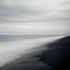 The Ghost in You (IrenaS) Tags: ocean longexposure sea beach blacksand iceland minimal wwwirenesuchockicom