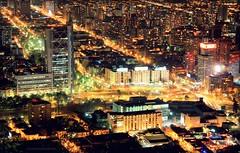 PLAZA BAQUEDANO (Pablo C.M || BANCOIMAGENES.CL) Tags: chile city santiago night noche santiagodechile providencia plazaitalia plazabaquedano cerrosancristbal