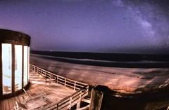 The Deck, Beach and Stars (virtualphotographers) Tags: longexposure sky beach night stars waves seashore milkyway virtalphotographers