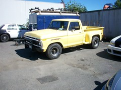 FORD F-150 SIDESTEP (rjgivnin Sr) Tags: ford up yellow truck early side step pick