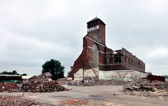 Wesley Street Mill (Sandra... Back on the Radar) Tags: street brick mill demolition preston recycling laborer reclaiming cottonmill tion lwesley milllancashiredeconstrucifecycle