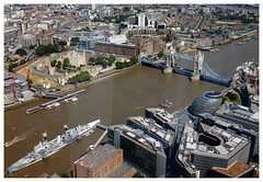View from The Shard - Tower of London, Tower Bridge, City Hall and HMS Belfast (wirewiping) Tags: shard theshard