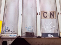moniker monday (knitgirl) Tags: cn blurry trains iphone freights monikers uploaded:by=flickrmobile flickriosapp:filter=nofilter