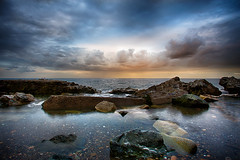 The Perfect light. (Sigita JP) Tags: ireland light sunset sky colour beach clouds boat rocks day cloudy stones ngc greystones irishsea calmwater nowaves seascap