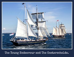 The Young Endeavour and The Oosterschelde in full sail. (Megspics .) Tags: festival sailing ships tall tallships sailingships the portphillipbay oosterschelde royalaustraliannavy victoriaaustralia theyoungendeavour