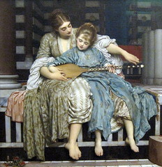 The Music Lesson, by Frederic, Lord Leighton (1877). (Snapshooter46) Tags: london artist oilpainting fredericlordleighton guildhallartgallery themusiclesson