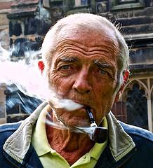 Pipe smoking gardener (eyecandyclick) Tags: old portrait man face digital portraits eos eyes smoke pipe pipesmoker peopleportraits 50mmlens portraitsandfaces canon5dmarklll portraitsindividual
