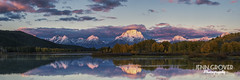 Oxbow Bend Alpenglow Panorama (Jenn Grover) Tags: sunrise snakeriver wyoming grandtetonnationalpark oxbowbend 2013 governmentshutdown