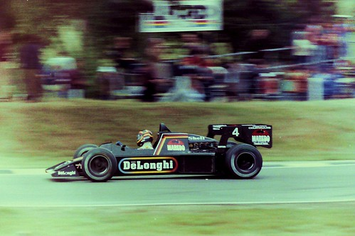 Elio de Angelis in the Lotus - 1984 British Grand Prix