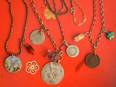 Little Green Pagoda recombined necklaces_2013 003