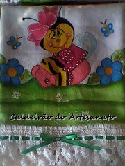 Pano de Prato (Caldeiro do Artesanato) Tags: crochet trabalhosmanuais pinturaemtecido panodecopa artesanatoparacozinha
