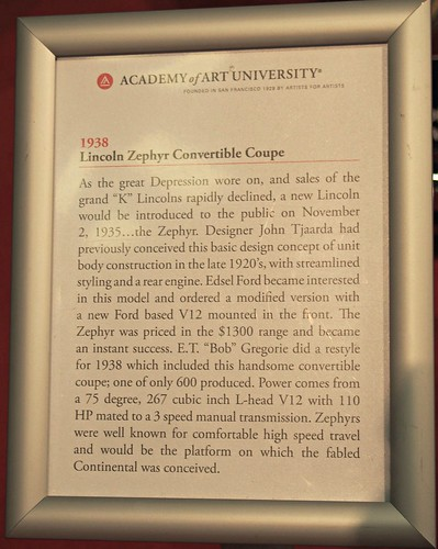 1938 Lincoln Zephyr Convertible Info