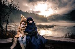 Horo & Alice @ One Mile Lake, British Columbia (AkaTG) Tags: outdoors doll sitting dress britishcolumbia tail bjd volks dds holo horo wolfgirl dollfiedream spiceandwolf d7000 mahoutsukainoyoru ddh07 kuonjialice