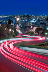 Lights of Lombard, SF, Ca (ヤーン) Tags: sanfrancisco california city longexposure trip travel light wild vacation sky urban nature beautiful clouds canon landscape lights evening site rocks outdoor tripod scenic illumination visit scene hike cliffs trail filter wilderness rugged lombard paintedladies illuminate manfrotto 2010 giotto cablerelease 2011 1635mm singhray 5dmkii jaredropelato ropelatophotography