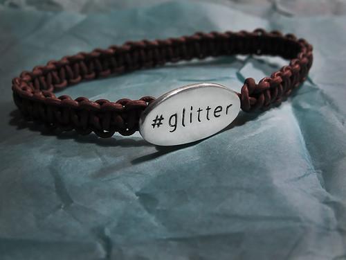Glitterarmband