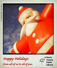 Happy Holidays Santa Balloon (hcplebranch) Tags: reading marketing libraries books ebranch digitalservices harriscountypubliclibrary facebookgraphics harriscountypl