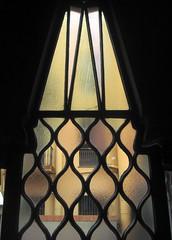 Little window in Palau Güell by A. Gaudi - Barcelona (Sokleine) Tags: barcelona window spain interior modernism stainedglass catalonia unesco espana artnouveau vitrail gaudi espagne fenêtre unescoworldheritage barcelone güell palaugüell catalogne