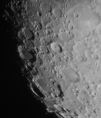 Crater Clavius (Rob Wilsdon) Tags: sky moon night canon eos space january 9 crater astrophotography astronomy lunar barlow 120mm 2014 refractor 5x skywatcher clavius 60d evostar