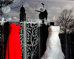 114 in 2014 #107. Shop Window (groovygran2012) Tags: shops local glossop weddingbelles norfolksquare promwear