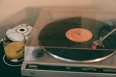 morning (emily_quirk) Tags: california morning records film 35mm neworleans vinyl turntable cocktail ty orangejuice nola jackdaniels oj segall sleeper instax cocktailglass easylistening blackvinyl fujifilminstax tysegall emilyquirk