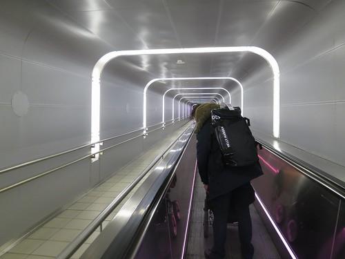 oslo airport escalator hellyhansen