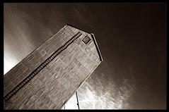 Elevator Ladder and Shadow (mdt1960) Tags: columbus shadow montana elevator grain storage ladder nikonfm