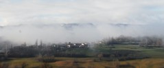 On my way... (anna.coluthe) Tags: mist mountain france nature fog montagne landscape village country paysage campagne brouillard brume tiltshift