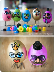 Funny egg characters (Craft & Creativity) Tags: painting easter fun diy funny paint martha crafts egg craft hobby stewart laugh characters styrofoam tutorial crafting laughs marthastewartcrafts
