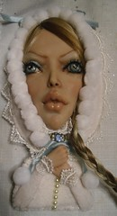 Angelia (my needle case doll) (mariaquinones1) Tags: mixedmedia ooak polymerclay ooakdoll acrylicpaints synthetichair clothbody
