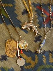 Little Green Pagoda necklaces March 2014
