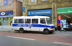 Community Bus (The original SimonB) Tags: film buses october transport 1999 scanned countydurham chesterlestreet thenortheast