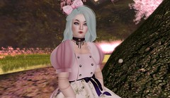 sakura viewing dolly 4 (Sky Haramori / Betsy Honeyvenom) Tags: olive sl secondlife noodles nomine niju uglyduck junbug theaterchain