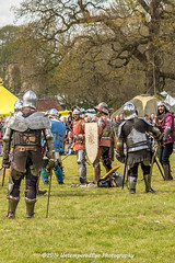 [2014-04-19@15.17.24b] (Untempered Photography) Tags: history costume fight helmet battle medieval weapon sword knight shield combat armour reenactment skirmish combatant chainmail canonef50mmf14 perioddress platearmour gambeson mailarmour untemperedeye canoneos5dmkiii untemperedeyephotography glastonburymedievalfayre2014