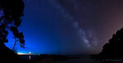 Via Làctia i sortida de Lluna (Joan Trias) Tags: landscape cel catalonia catalunya costabrava milkyway paisatge panorámica vialáctea empordà panoràmica baixempordà estrelles calaestreta vialàctia